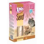 Lolo Pets Sand песок для шиншилл, помогает удалять с шерсти загрязнения и жир, 1500 г