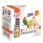Lolo Pets Lime минеральный камень натуральный для птиц, яблочный 35 г