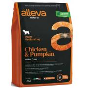 Alleva Natural Puppy Chicken & Pumpkin Medium Dog для щенков средних пород с курицей и тыквой, 2 кг