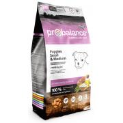Pro Balance Small Medium Puppy полнорационный сухой корм, предназначен для ежедневного кормления щенков малых и средник пород пород от 2 до 12 месяцев, а также беременных и кормящих сук, (целый мешок 10 кг)