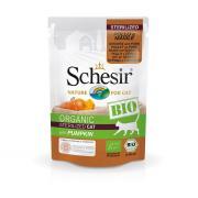 Schesir Organic Bio курица и свинина с тыквой для стерилизованных кошек, 85 г