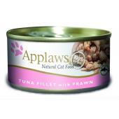 Applaws Tuna Fillet With Prawn филе с тунцом и креветками, 70 г