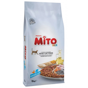 Mito Premium Mix полноценный сухой корм для взрослых кошек с курицей и рыбой, (целый мешок 15 кг)