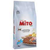 Mito Premium Mix полноценный сухой корм для взрослых кошек с курицей и рыбой (на развес)