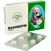 Caniverm антигельминтик для кошек и собак, 1 таблетка = 2 кг