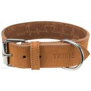 Trixie ошейник кожаный, размер L-XL 55-65 cm/40 mm, коричневый