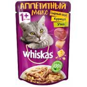 Whiskas аппетитный микс, курица и утка с сырным соусом 85 г