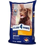 Club 4 paws сухой корм для взрослых собак всех пород, для контроля веса (целый мешок 14 кг)