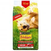 Friskies сухой корм для взрослых собак всех пород с мясом (целый мешок 10 кг)
