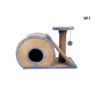 Домик с двумя когтеточками 60×45×30 см