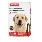 Beaphar ошейник от блох и клещей для собак, коричнево-желтый 65 см