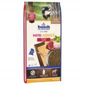 Bosch Mini Adult сухой корм для взрослых собак мелких пород с ягнёнком и рисом (целый мешок 15 кг)