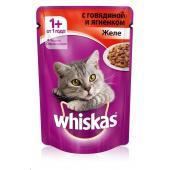 Whiskas желе с говядиной и ягненком, 85 г