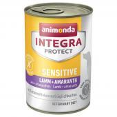 Animonda Integra Protect Sensitive влажный корм для собак  с аллергией и пищевыми непереносимостями с ягненком, кониной и амарантом