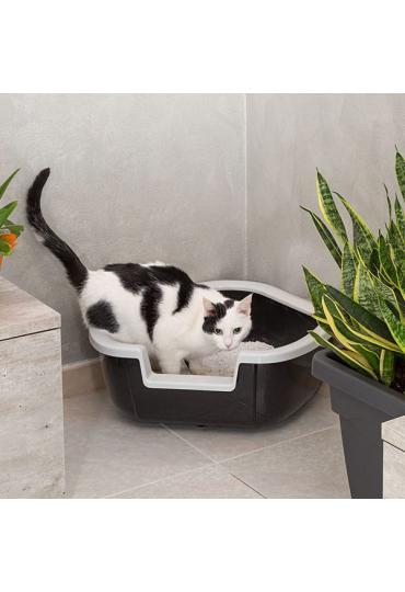 Ferplast Dama угловой туалет для кошек, 57,5 x 51,5 x 22 см