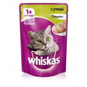 Whiskas паштет с уткой 85 гр