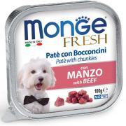 Monge Fresh нежные кусочки в паштете с говядиной для собак, супер премиум качества 100 гр
