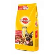 Pedigree для взрослых собак крупных пород с говядиной (целый мешок 13 кг)