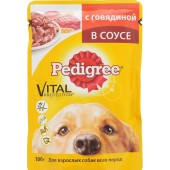 Pedigree для взрослых собак всех пород c говядиной в соусе
