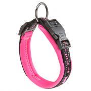 Ferplast Sport Dog C15/35 светоотражающий ошейник на подкладке для собак, 15 х 35 см, розовый