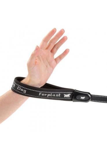 Ferplast Sport Dog Matic G20/120 поводок для собак (весом до 60 кг) на подкладке с автоматическим карабином