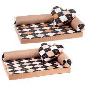 Ferplast Лежак-кровать TOMMY ROMBUS 65 для собак и кошек (Коричневый ромб)