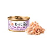 Brit Fish Dreams консервы с куриным филе и креветками для кошек, 80 г