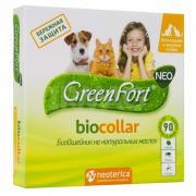Green Fort био ошейник на натуральных маслах для кошек и мелких собак 40 см, зеленый