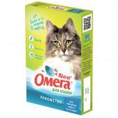 Омега Neo, витамины - лакомство для выведения шерсти из желудка, для кошек  90 таб.