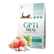 Opti meal сухой корм для котят с курицей (целый мешок 4 кг)