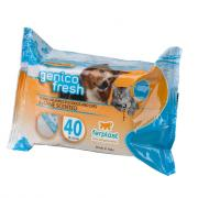 Ferplast Genico Fresh Marine очищающие салфетки для кошек и собак, 40 шт