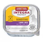 Animonda Integra Protect Sensitive паштет для кошек с пищевой непереносимостью c ягнёнком и рисом.