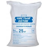 """Наполнитель силикагелевый """"Чистый котик"""" жемчужно-образные гранулы Премиум (целый мешок 55 л/ 25 кг)"""