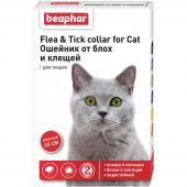 Beaphar Flea & Tick ошейник от блох и клещей для кошек, красный, 35 см, 1 шт