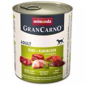 Gran Carno Adult с говядиной, кроликом и зеленью, 400 г