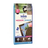 Bosch Junior Medium сухой корм для щенков средних пород с мясом домашней птицы + молозиво (целый мешок 15 кг)