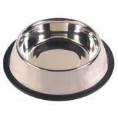 Стальная миска для собак с прорезиненным ободком Ø15 см