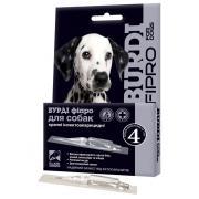 Бурди Фипро капли для собак инсектоакарицидные от блох, иксодовых и чесоточных клещей, вшей, власоедов, 1 пипетка-капельница