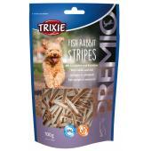 Trixie Fish Rabbit Stripes лакомство для собак с кроликом и треской, 100 г