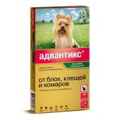 Advantix капли на холку для собак весом до 4 кг 1 тюбик-пипетка 0,4 мл