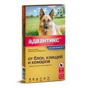 Advantix капли на холку для собак весом более 25 кг, 1 тюбик-пипетка 4,0 мл