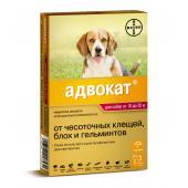 Advocate для собак от 10 до 25 кг эндоэктоцид 1 пипетка 2,5 мл