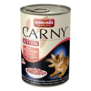 Carny Kitten консервы с говядиной и сердцем индейки для котят