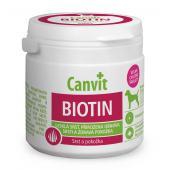 Canvit Biotin витамины для укрепления кожи и против выпадения шерсти для собак до 25 кг, 100 таб