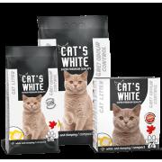 Cat's White комкующийся наполнитель с активированным углем, 10 кг