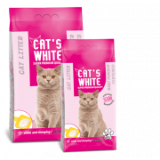 Cat's White комкующийся наполнитель с ароматом детской присыпки, 20 кг