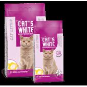 Cat's White комкующийся наполнитель с ароматом лаванды, 10 кг