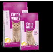 Cat's White комкующийся наполнитель с ароматом лаванды, 20 кг