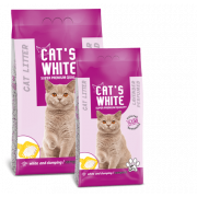 Cat's White комкующийся наполнитель с ароматом лаванды, 5 кг