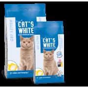 Cat's White комкующийся наполнитель с ароматом марсельского мыла, 10 кг